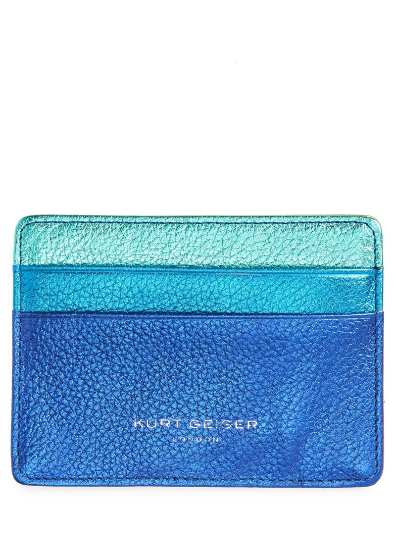 Kurt Geiger London Metallic Leather Card Holder