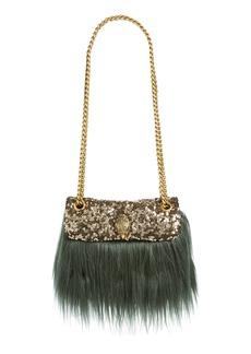 Kurt Geiger London Mini Kensington Faux Fur Crossbody Bag