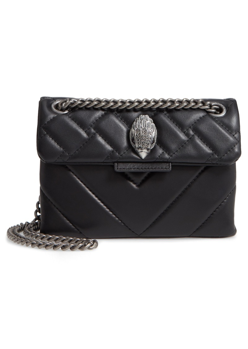 Kurt Geiger London Mini Kensington Quilted Leather Crossbody Bag