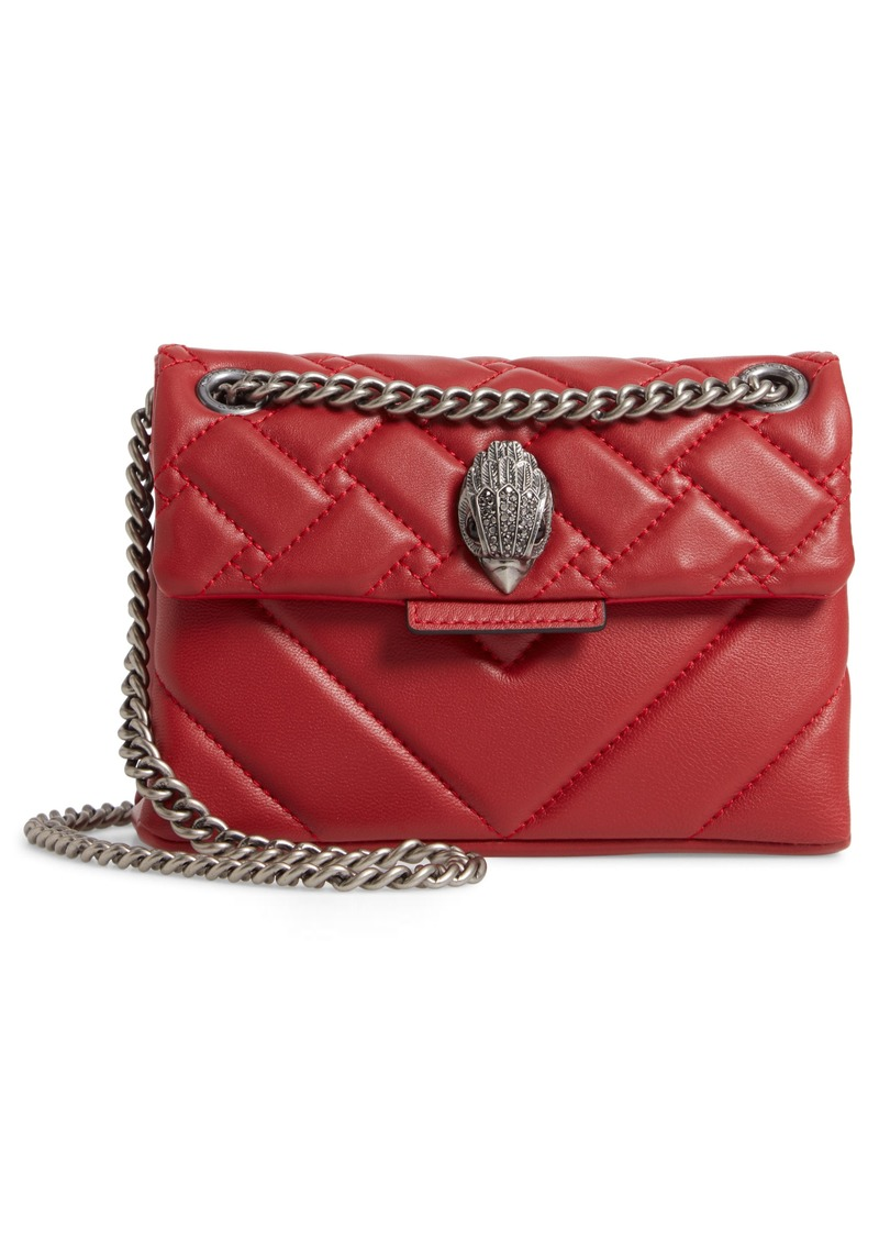 Kurt Geiger London Mini Kensington Quilted Leather Crossbody Bag