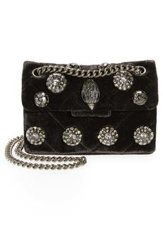 Kurt Geiger London Mini Kensington Quilted Velvet Crossbody Bag