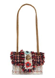 Kurt Geiger London Mini Kensington X Embellished Tweed Crossbody Bag
