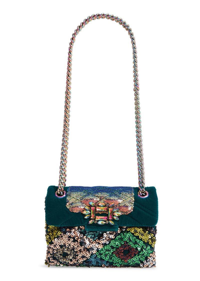 Kurt Geiger London Mini Mayfair Sequin Crossbody Bag