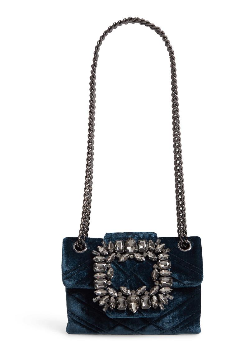 Kurt Geiger London Mini Mayfair Velvet Crossbody Bag