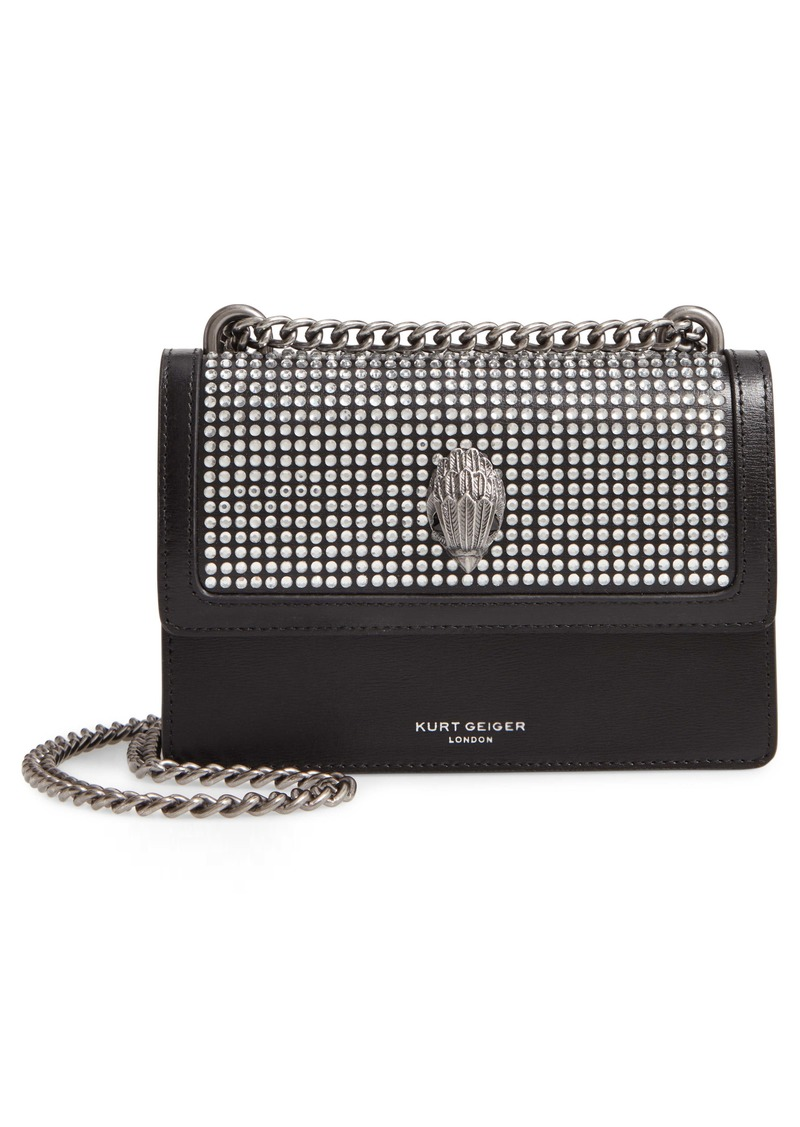 Kurt Geiger London Small Shoreditch Crystal Embellished Leather Crossbody Bag