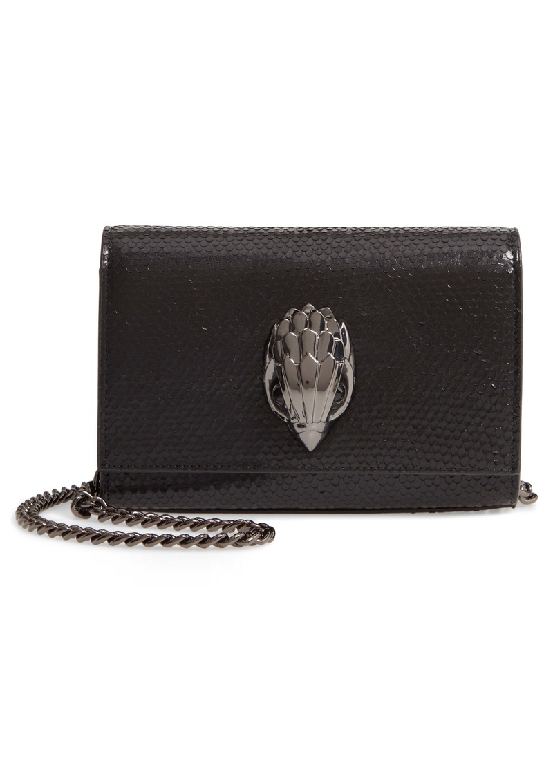 Kurt Geiger London Small Shoreditch Snake Embossed Leather Clutch