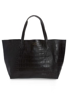 Kurt Geiger London Violet Croc Embossed Leather Tote