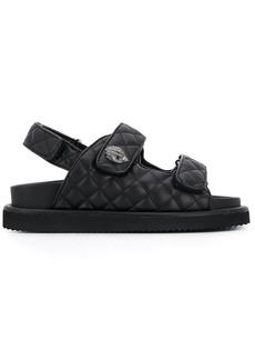 Kurt Geiger Orson quilted sandals