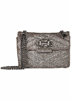 Kurt Geiger Tweed Mini Mayfair Bag