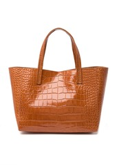 Kurt Geiger Violet Croc Embossed Leather Tote