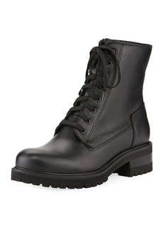 La Canadienne Caterina Leather Lace-Up Combat Boots