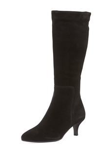 La Canadienne Dora Suede Pointy-Toe Mid-Calf Boots