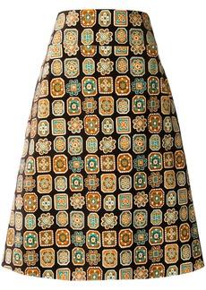La Doublej a-line piastrelle skirt