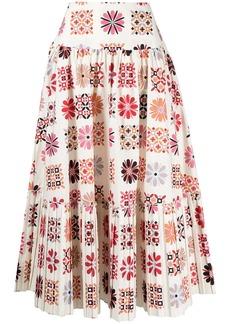 La Doublej Balletto midi a-line skirt