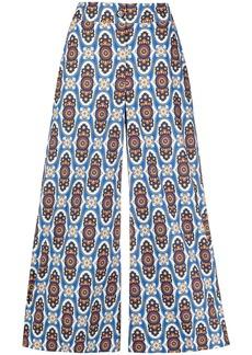 La Doublej geometric print high-waisted culottes