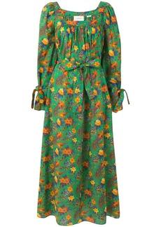 La Doublej floral print balloon sleeve dress