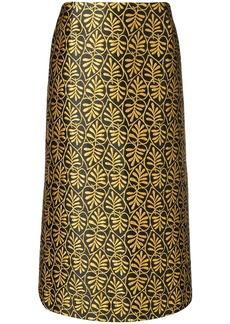 La Doublej jacquard pencil skirt