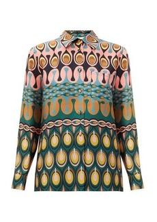 La DoubleJ Boy abstract-print silk-twill shirt
