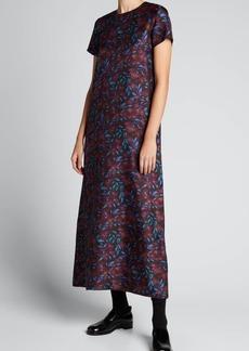 La DoubleJ Floral Maxi Swing Dress