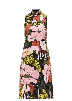 La DoubleJ Gala floral-sequined dress