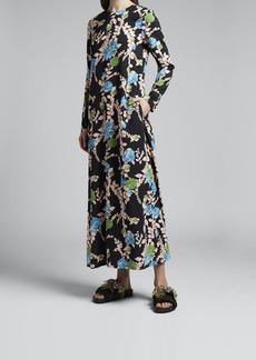 La DoubleJ Long-Sleeve Swing Dress