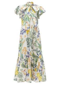 La DoubleJ Lou Lou floral-print cotton-poplin dress