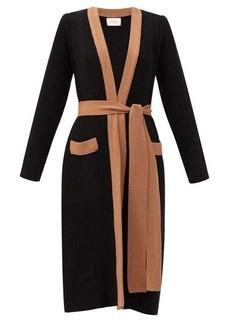 La DoubleJ Nonna ribbed wool-blend longline cardigan