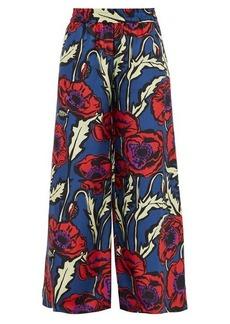 La DoubleJ Palazzo silk crepe-de-Chine trousers