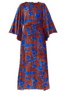 La DoubleJ Sorella floral-print velvet dress