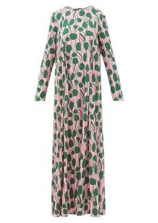 La DoubleJ Trapezio floral-print maxi dress