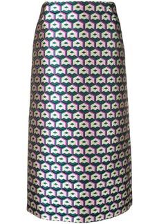 La Doublej lurex pencil skirt