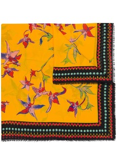 La Doublej orchidea print scarf