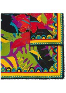 La Doublej plant print scarf