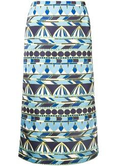 La Doublej printed radzmir skirt