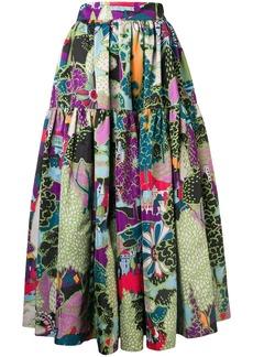 La Doublej scenery print skirt