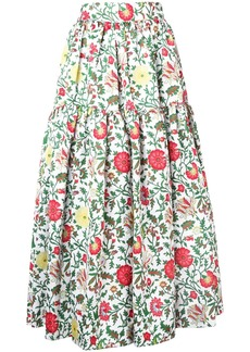 La Doublej tiered floral skirt