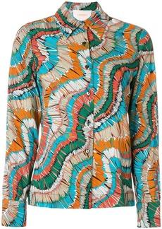 La Doublej vintage pattern slim shirt