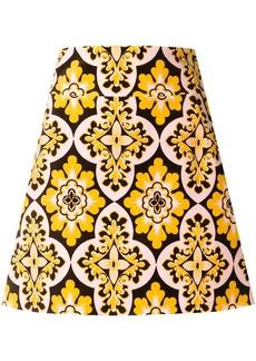 La Doublej vintage print mini skirt