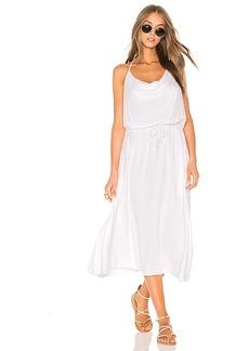 LA Made Coco Halter Dress in White. - size L (also in M,S,XS)