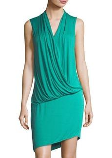 LA Made Elite Draped-Front Jersey Dress