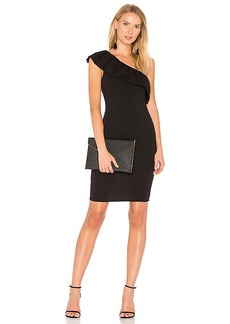 LA Made Felicity One Shoulder Dress in Black. - size L (also in M,S,XS)