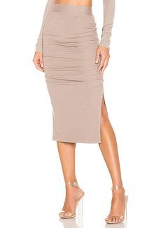 LA Made Gathered Midi Skirt