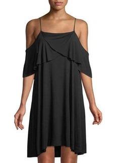 LA Made Iris Cold-Shoulder Shift Dress