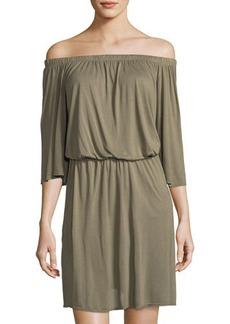 LA Made Lucia Off-Shoulder Jersey Dress