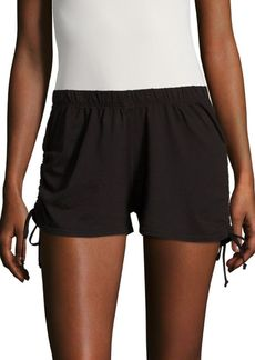 La Made Ruched Cotton Shorts