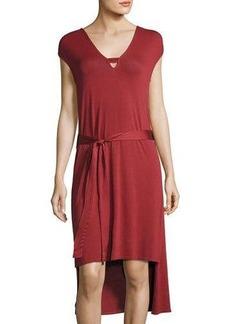 LA Made Venna Belted High-Low Midi Dress