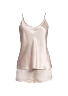 La Perla 2-Piece Silk Camisole & Shorts Pajama Set