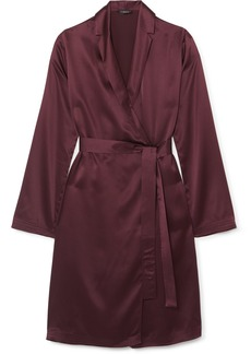 La Perla Belted Silk-satin Robe