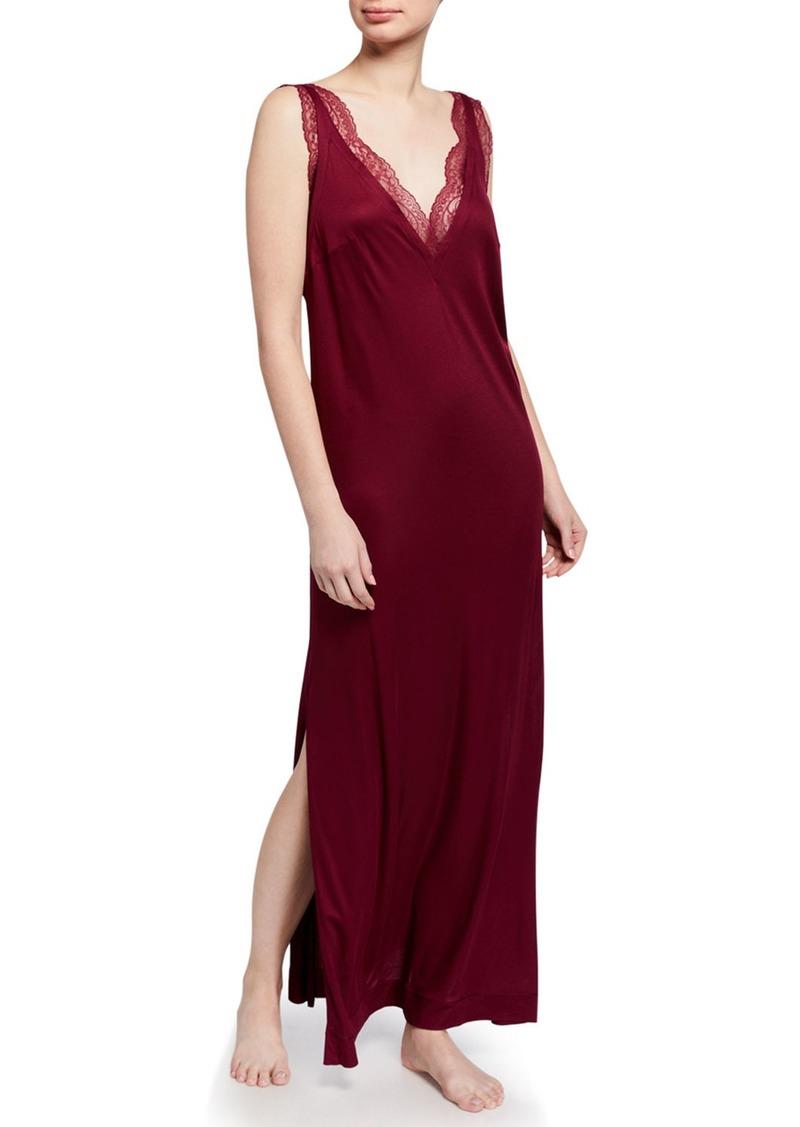La Perla Bianca Lace-Trim Nightgown