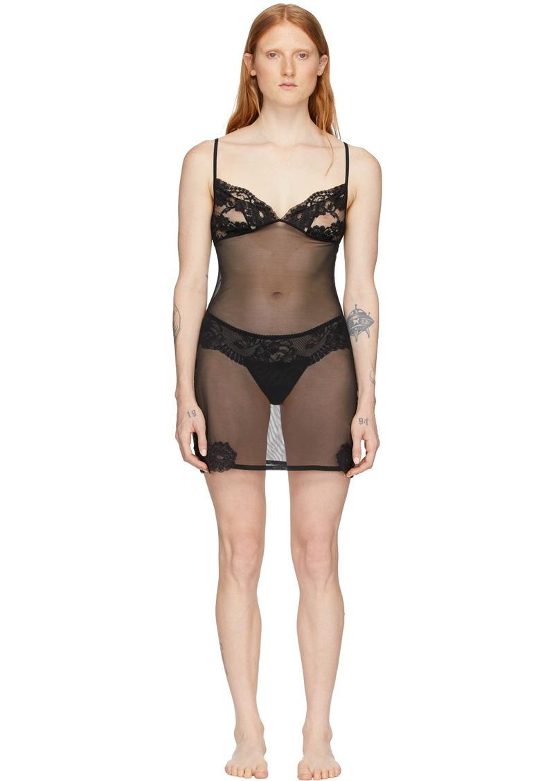 La Perla Black Lace Triangle Sheer Dress